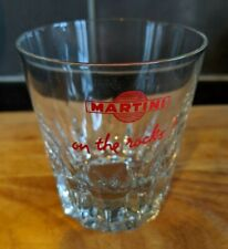 Martini on the Rocks Tumbler, Red, Real Nice Shape, Home Bar, Man Cave, Vintage