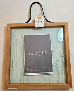 """Foreside Home and Garden 5"""" x 7"""" Picture Frame Prairie Floating Photo Frame"""
