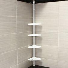 4 niveaux Réglable Télescopique Salle de bains d'angle de Douche Étagère rack caddie Organisateur