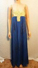 NEW Womens Nicole Miller Gown Gala Prom Ball Dress Gold Metallic Blue Purple 6