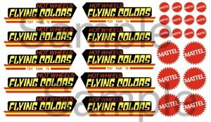 Flying Colors 1/64, 1/32, 1/24, 1/18 WATER-SLIDE DECALS FOR HOT WHEELS, MATCHBOX