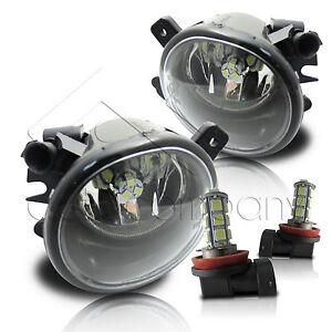 06-09 Mercedes Benz M-Class W164 Replacement Fog Lights w/LED Bulbs - Clear