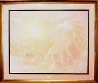 Gilles E. GINGRAS 1984 Canadian & Int'l landscape Artist Oil painting on canvas