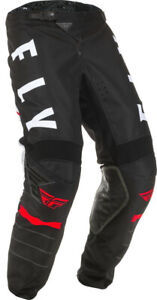 Fly Racing Kids Youth Kinetic K120 Pants | Black/White/Red | Choose Size