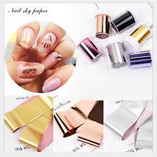 6x / Lot Galaxy Nail Art Transfer Wrap Foil Sticker Glitter Tip Decal Decoration