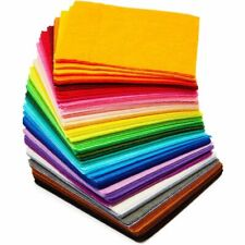 100 Pcs Felt Fabric Sheets for Art and DIY Crafts Supplies, 50 Colors (4 x 4 in)
