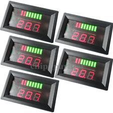 5x Charge Level LED Indicator Battery Capacity Tester Voltmeter 12V ACID Lead