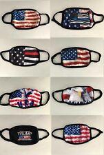 American Flag Style Unisex Face Mask Reusable Washable Cover Masks Men Women
