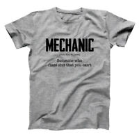 Mechanic Definition  Funny Humor Engine Car Block Gray Basic Men's T-Shirt