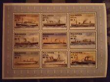 C45a.Briefmarken Schiffe 1997 Maledives Kb.,postfrisch