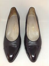 Chanel Vintage Black Patent Leather Pumps 9.5