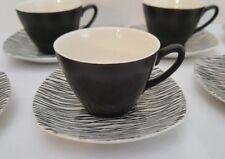Set of Six Midwinter Stylecraft Tonga Cups and Saucers - RARE