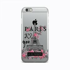 Paris iPhone 6s 7 8 Plus Thin Rubber Case Floral iPhone X XR XS Max Silicon Snap