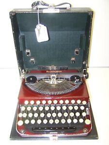 Antique 1927 Remington Red Maroon Model 2 Vintage Typewriter NL73884