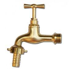 Messing Wasserhahn 1/2' Wasserauslauf Garten Keller Aussenarmatur Bradas 3141