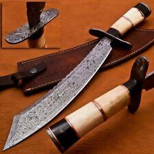 Custom handmade knife damascus knife steel chef knife hunting knife bowie knife