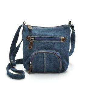 Denim Blue Handbag Fashion Shoulder Crossbody Messenger Zipper Pocket Purse Bag