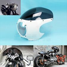 "Motorcycle 5-3/4"" Headlight Fairing + Windscreen Fit Retro Cafe Racer Style Drag"