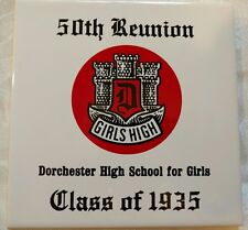 Dorchester High School For Girls Class of 1935 50th Fiftieth reunion trivet