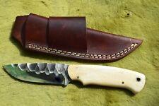 "D2 HANDMADE 9"" HUNTING-SKINNING-BEAUTIFUL MIRROR POLISH BLADE BUSH CRAFT KNIFE"