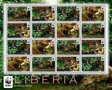 Liberia - 2011 - WWF - WATER CHEVROTAIN - Sheet of 16 Stamps - MNH