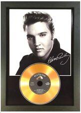 More details for elvis presley signed photograph gold cd disc collectable gift memorabilia mk24