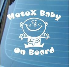 MOTO X BABY ON BOARD - Moto cross stickers - Motox Decal moto x car graphics