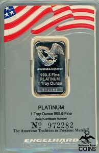 Engelhard 1oz Fine Platinum .9995 SEALED & BAR #972282
