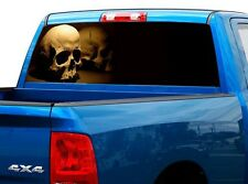 P488 Skull Rear Window Tint Graphic Decal Wrap Back Truck Tailgate