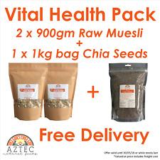 Vital Health Pack 2 x 900gm Aztec Muesli + 1kg black chia..Save $29.21