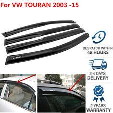 For VW Touran 2003-2015 Window Deflector Visor Vent Shade Sun Guard Black