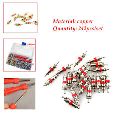 242Pcs/Set R134a copper Car Air Conditioning Valve Cores Auto Air Con Remover