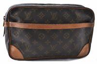 Authentic Louis Vuitton Monogram Compiegne 28 Clutch Hand Bag M51845 LV B7427