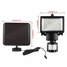 NEW 60 LED SOLAR PIR MOTION SENSOR SECURITY BRIGHT LIGHT FLOODLIGHT LAMP GARDEN