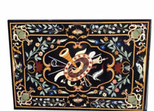 """Dining / Center 48"""" x 36"""" Table Top Marble Inlay Arts Handmade Work"""