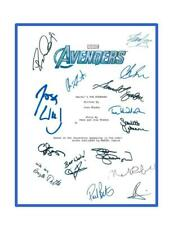 THE AVENGERS SIGNED SCRIPT JOSS WHEDON  ROBERT DOWNEY JR.  STAN LEE
