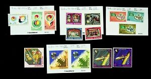 JORDAN ELIMINATION OF RACIAL DISCRIMINATION, OUTER SPACE MIXED 14v MH STAMPS