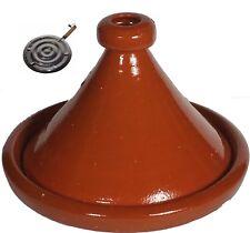 "Medium Cooking Moroccan Tagine   Ceramic  Moroccan   10.5"" FREE HEAT DIFFUSER"