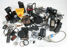 MISC.CAMERA PARTS LARGE LOT, CRAFTS STEAMPUNK JEWELRY PROP CAMERA REPAIR