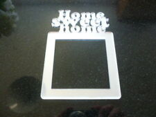 Light Switch Surround Single Acrylic Home Sweet Home Finger Plate Plug Socket
