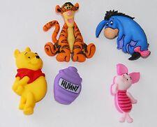 Winnie the Pooh w Tigger Eayore & Piglet ~ Disney License Buttons Jesse James