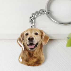 Personalised Dog Photo Key Ring Pet Memorial Key Chain Pet Loss Sympathy Gift