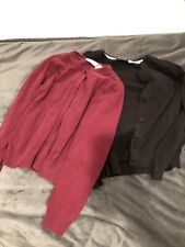Children's Place Lot Of 2 Girls Size 10/12 Uniform Sweaters Button Up