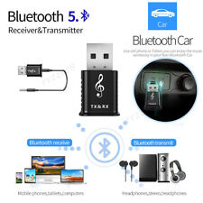 USB Bluetooth 5.0 Audio Transmitter Receiver Adapter for TV PC Car AUX Speaker