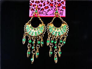 Betsey Johnson Vintage rhinestone tassels Women's Ear Stud Earrings
