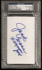 Janet Evans Swimming Olympics GOLD MEDAL Signed Auto Index Card PSA/DNA