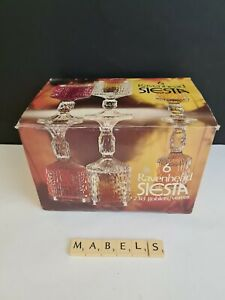 RAVENHEAD ~JOHN CLAPPISON SIESTA~ large wine goblets 23cl  glasses x 6 **BOXED**