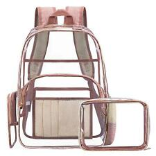 Women Fashion Transparent Bag Clear Backpack School Security Heavy Duty Bookbag
