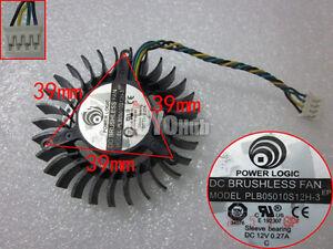 Power Logic 5010 PLB05010S12H-3 Cooling Fan 12V 0.27A 4-Pin XFX 9800gt fan