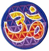 Om Symbol Blume des Lebens Yoga Goa Zeichen Aufnäher Patch Bügelbild Aufbügler